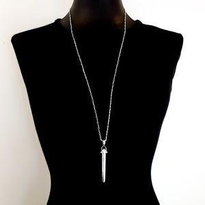 Stella & Dot Rebel Necklace Silver Tone